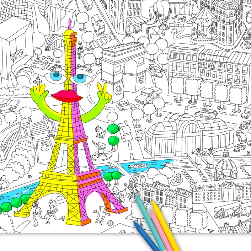 Mapa de paris enrollable - Coloriage omy ...